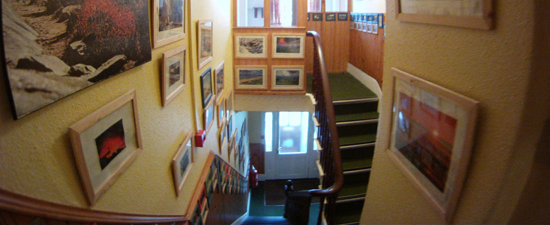 group accommodation in snowdonia, stairs