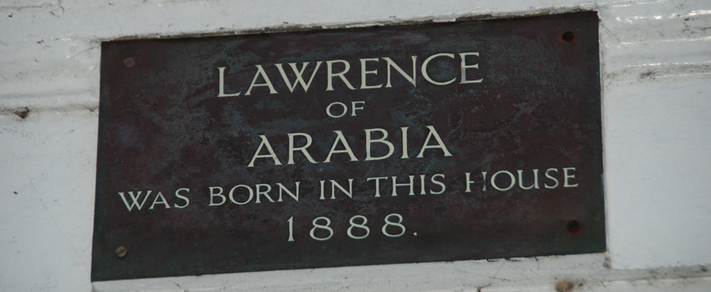 birthplace of Lawrence of Arabia plaque