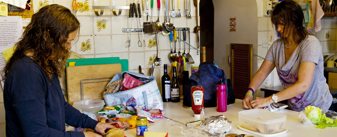 group accommodation in snowdonia, kitchen